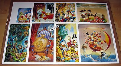 Carl Barks Kunstdruck: Set mit 8 Motiven - In Uncle Walt's Collectery etc.