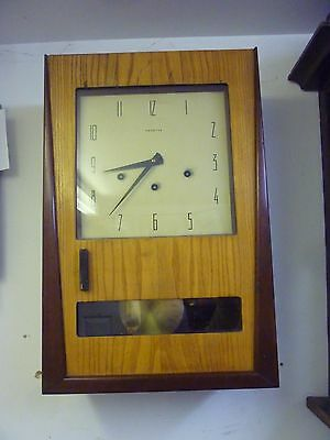 Fantastic Art Deco Cased Westminster Chime Wall Clock In Full Working Order(3)