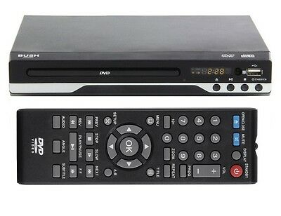 Bush DVD Player with Display and USB Black RRP 21.99 lot GD 2269021