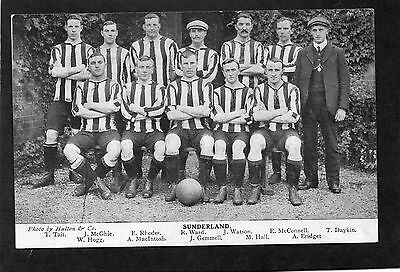 Sunderland Football Club Team With Named Players Rare C1908