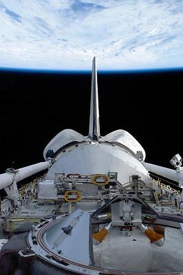 Space Shuttle Discovery Orbits Earth STS-114 12x18 Silver Halide Photo Print