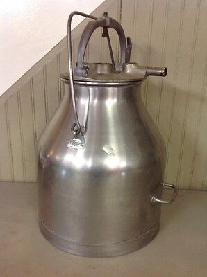 Vintage 5 Gallon Stainless Steel Delaval Milker Milk Can Jug Bucket W/ Lid