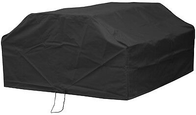 Woodside Black Waterproof Outdoor 6 Seater Square Picnic Table Cover