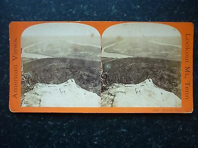 Stereoview Nice Early Image Of Lookout Mt.,Tenn Moccasin Bend U.S.A Card No 9842
