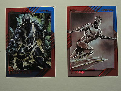 Marvel Fleer Retro Autograph Lot 2 Gold Signatures 15 Silver Signatures See Pics