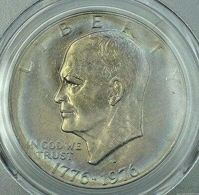 1976-D  PCGS MS64 Secure Plus Holder Ike  Eisenhower Dollar ~Attractive Toning!~