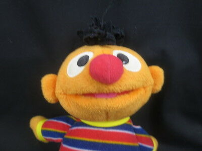 Sesame Street Fisher Price 2002 Mattel Kid Ernie Plush Soft Doll Young Face