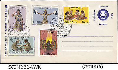 Suriname - 1961 Caribbean Girl Scout Jamboree - 5V - Fdc
