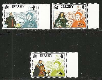 Jersey 1992 Europa/Columbus 500th Anniversary--Attractive Topical (593-95) MNH