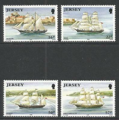 Jersey 1992 Jersey-built Sailing Ships--Attractive Topical (596-99) MNH
