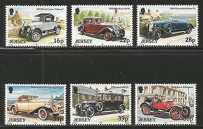 Jersey 1992 Classic Cars--Attractive Transportation Topical (604-09) MNH