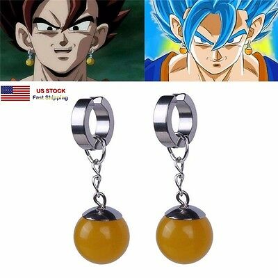 Super Dragon Ball Z Cosplay DBZ Vegetto Potara Earring Earrings Ear Stud 1pc
