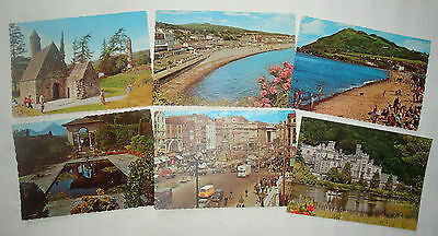 Six Colour Postcards featuring Views of Ireland - Unused