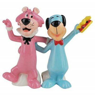 Huckleberry Hound and Snagglepuss Ceramic Salt and Pepper Shakers Set, NEW BOXED