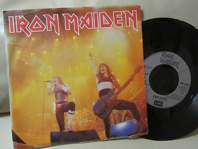 "IRON MAIDEN ""Running Free"" Scarce 7"" in Picture Sleeve - EMI Records EMI 5532"