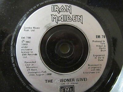 "IRON MAIDEN ""The Clairvoyant"" 7"" Single - EMI Records EM 79"