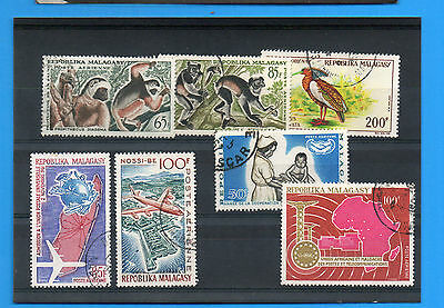 Malagasy Republic.seven Airpost Stamps .fine Used.(B)