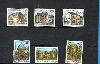 Luxemburg 1986/7 Architecture.two Sets Of Three.. Mnh.