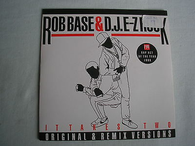 "ROB BASE & DJ E-Z ROCK It Takes Two UK 7"" single PS 1988 ex+/ex+"