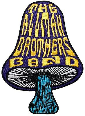 The Allman Brothers Band Mushroom Logo Blues Rock Music Iron On Applique Patch