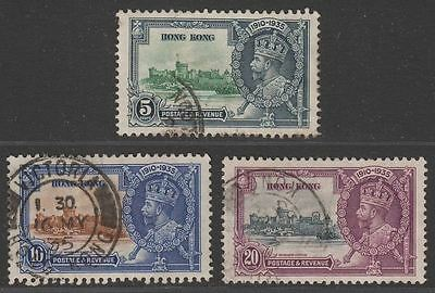 Hong Kong 1935 KGV Silver Jubilee Part Set to 20c Used cat £15