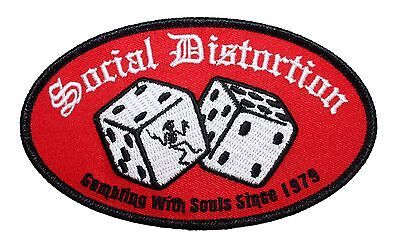 """""""Social Distortion Gambling with Souls"""" Punk Rock Apparel Iron On Applique Patch"""