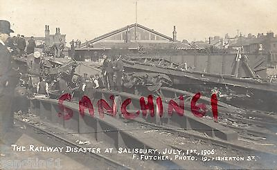 Salisbury Railway Disaster In Station, 1 July 1906. Pu Exeter 1906 Publ Futcher