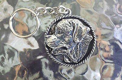 Purebred St. 1 St.bernard Pewter Dog Key Chain All New.