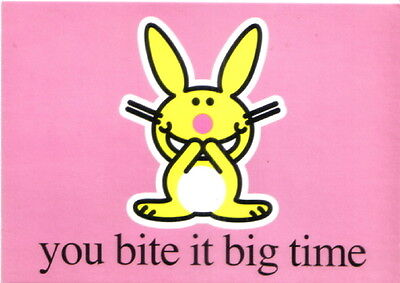 It's Happy Bunny You Bite It Big Time Art Postcard MINT UNUSED