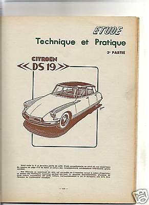 Rta Revue Technique 1957 / Citroen Ds 19 + Dyna Panhard + Citroen 2Cv