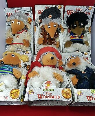 6 new wombles of wimbledon common boxed.
