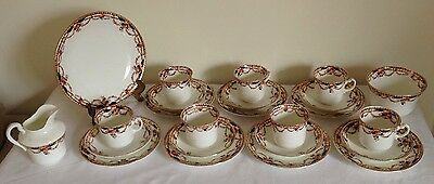 Lovely Vintage Osbourne China Teaset (24 Pieces In Total)