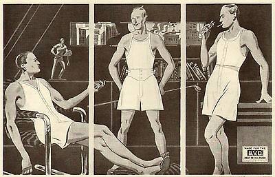 Next to Myself I Like BVD Best - 1932 Mens Underwear Ad - Gay Interest - SEP