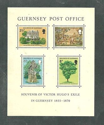 Gb Guernsey Souvenier Of Victor Hugo's Exile In Guernsey Mint Nh/vf