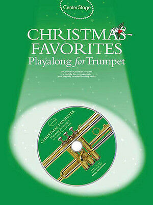 Christmas Favorites Playalong for Trumpet Solo Sheet Music 10 Songs Book CD NEW