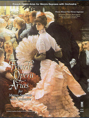 French Arias for Mezzo Soprano Orchestra Vocal Sheet Music Minus One Book CD NEW