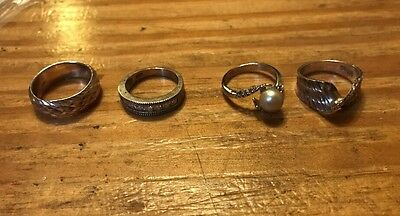 Lot Of 925 Silver Rings Pretty