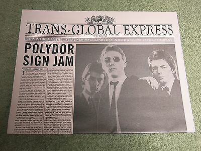 THE JAM Trans global Express PROMO NEWSPAPER!