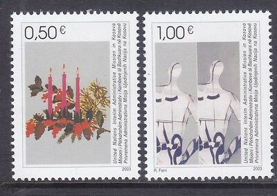Kosovo 16-17 MNH 2003 Candles & Garland - Stylized Men Christmas Set Very Fine
