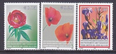 Kosovo 28-30 MNH 2005 Flowers - Peony Poppies & Gentian Set Very Fine