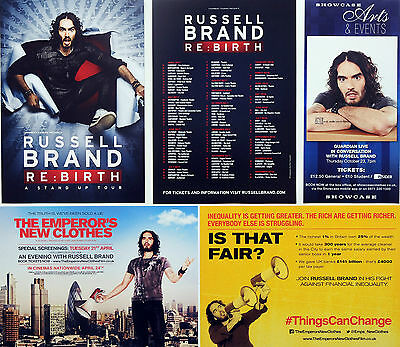 Russell Brand Flyers X 5 - Re: Birth 2017 Tour - The Emperor's New Clothes Etc