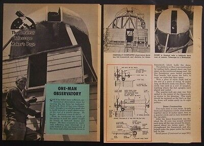1 man OBSERVATORY Rotating Dome How-To build PLANS 7' diameter