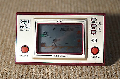 Vintage Nintendo Chef Game and Watch Handheld Game