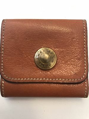 Hermes Post It Notes Tosca Leather Holder Tan