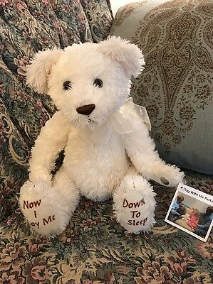 "NEW PRINCESS SOFT TOYS LAY ME DOWN TO SLEEP PRAYI W/ Me Parker PLUSH BEAR 11"" 2A"