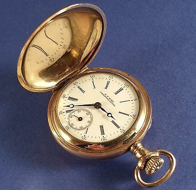 "Vintage Ladies Gold Fill Pocket Watch ""A.P. Hind Campbellford"" 17 Jewels 35 mm"