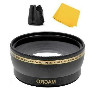 55mm Wide Angle Lens for Sony Cyber-Shot DSC-H400 DSC-HX400 DSC-HX300