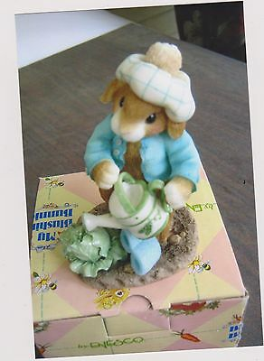 1996 My Blushing Bunnies-Lettuce Give Thanks For Friends Figurine With Box