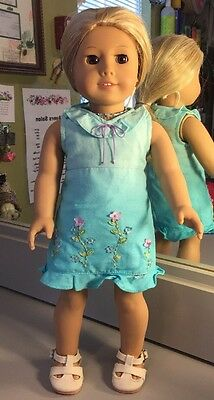 """American Girl Doll Pleasant Company Blonde Hair Brown Eyes 18"""" Clothes"""