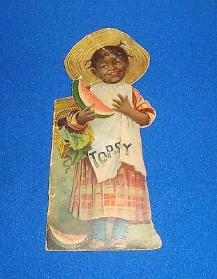 Vintage Black Americana 1890 Rare Topsy Die Cut Book by McLoughlin Brothers Rare